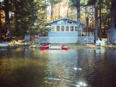 Front view of cottage on Randall Lake.