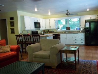Great room / Kitchen -  opens out to deck and to covered porch