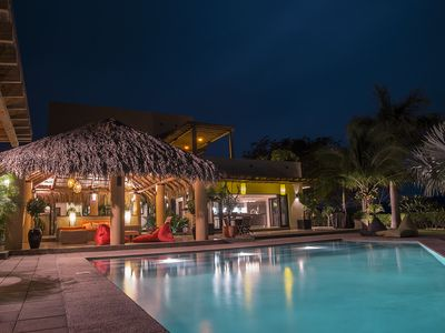 View from the pool terrace at night