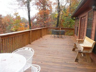 Back deck with a view in Fall 2012
