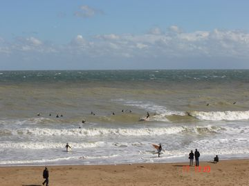 Surfing at joss Bay