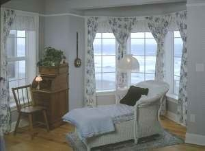 2nd oceanfront master suite is peaceful and relaxing in quiet blues.