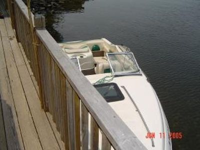 Boat next to deck