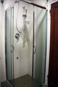 New Cabin shower