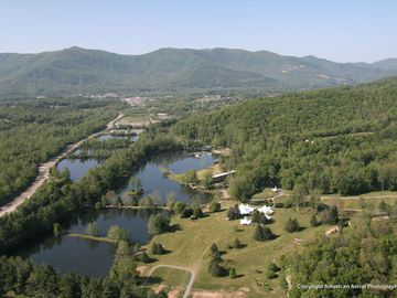 aerial shot of Lake Eden property facing south