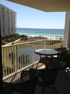 Mainsail Resort condo rental - Living Room View of Balcony and Beach