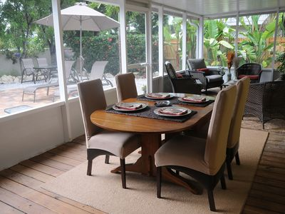 set the table, light up the grill, relax on your oversized lanai