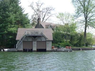 2 slip boathouse with jump platform