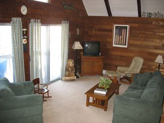 Locust Lake chalet photo - Large living room, perfect for lots of family fun