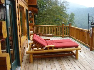Maggie Valley cabin photo - Lounge chair on front deck