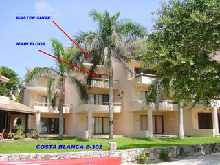 Puerto Aventuras condo photo - Chac-Hal-Al building E - as seen from the beach
