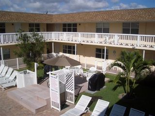 Pompano Beach condo photo - Pool and BBQ side