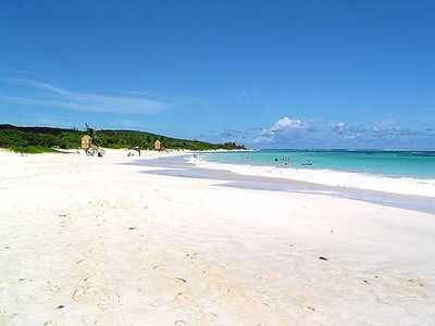 Famous Flamenco Beach, a 3 minute drive