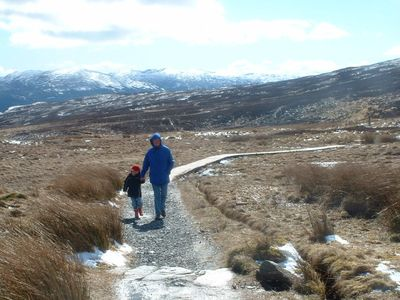 walking in the foothills of Ben Lawers