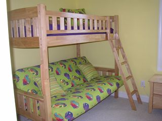 Wildwood Crest condo photo - Kids Room - lower bed pulls out to a full