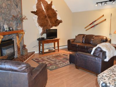 Living Room with brand new leather furniture