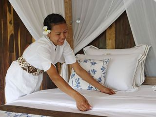 Hand made batik & quality linen - Ubud villa vacation rental photo