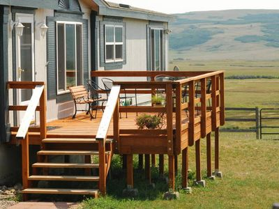 Spacious & comfortable deck for morning coffee and evening relaxing.