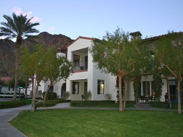 La Quinta villa rental - Front Entrance with Access to Manicured Front Lawn from Living Room and Bedroom