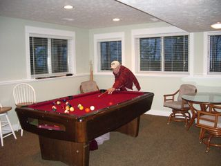 Montague cottage photo - Pool table in game room, lower level