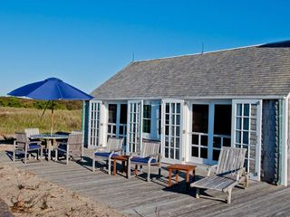 Vineyard Haven cottage photo - Ocean-Facing Deck Opens From Living & Dining Area