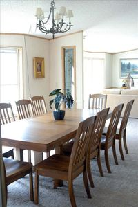 Dining room with AMAZING views of Yellowstone River and Yellowstone Park