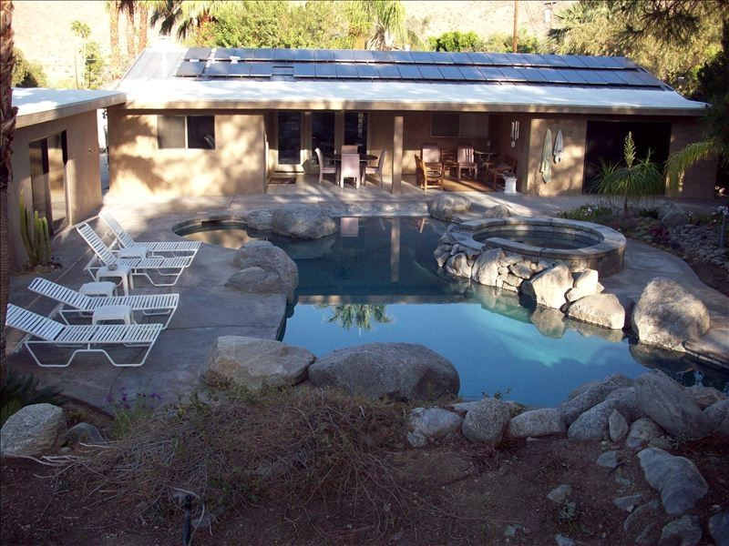 Serene oasis total privacy custom pool with 45ft lap and for Garden oases pool entrance