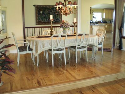 Dining Room with seating up to ten.