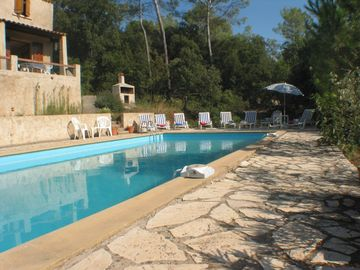 Lorgues villa rental - Pool Area