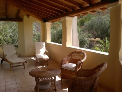 chalet typical Sardinian style with large garden