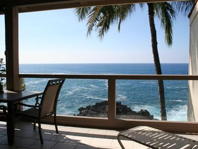 Enjoy SPECTACULAR ocean front views all day within privacy of your huge lanai.