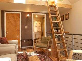 San Francisco townhome photo - The ladder up to the loft bed
