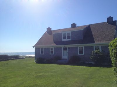 Little Compton house rental - Front of the Radar House - Atlantic Ocean behind the house