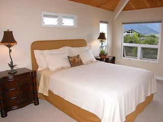 Princeville house photo - Upstairs Masterbedroom with Waterfall and Mountain Views