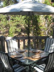 Sunriver house photo - Dining on the Deck