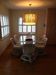 Slaughter Beach house photo - Dining room sits six comfortably and has great views of the water and beach
