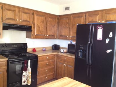 Large kitchen with modern appliances; new dishwasher 2013