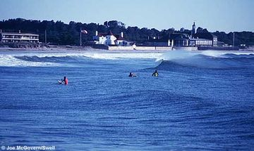 Surfing at Narragansett Beach
