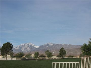 Desert Hot Springs house rental - View from covered patio.