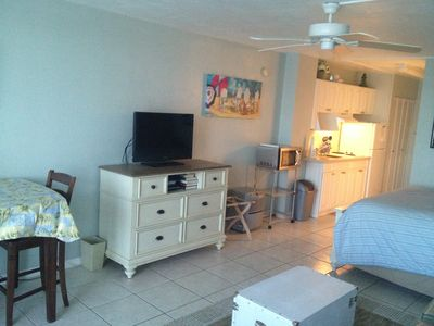 Newly remodeled with fresh paint, flat screen TV, and furniture!