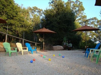 Belle Moons Donald House: Informal Non-Official Bocce & Petanque area