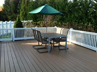 Water Mill farmhouse photo - New outdoor deck at the back of the house (seats 15-20 ppl).