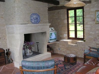 St Chamassy farmhouse rental - Lounge