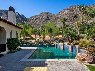 Indian Wells villa rental - Breathtaking view of Santa Rosa Mountains while relaxing at the pool!