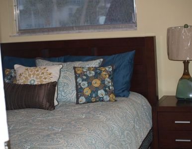3rd bedroom- large queen size mattress- beautiful furnishings