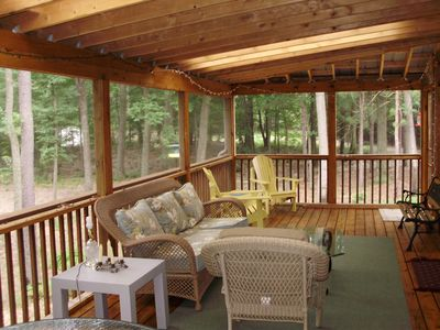 Deck with living area