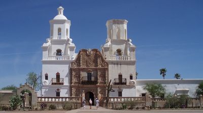 Nearby San Xavier mission, many missions and mission ruins in the area