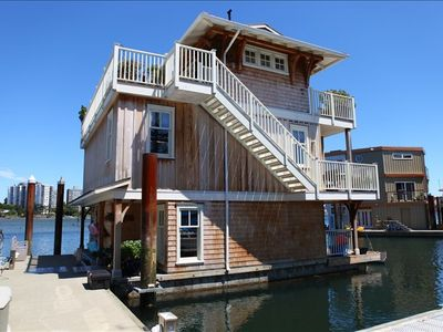Dockside view of the house