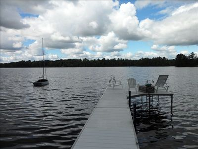 Private 40-foot dock.