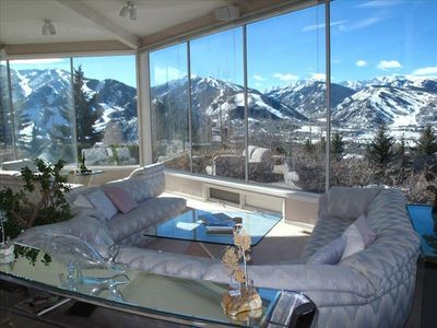 Aspen house rental - Great Room with Majestic 180 degree Views.